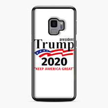 Load image into Gallery viewer, Trump Keep America Great 2020 Samsung Galaxy S9 Case, Black Plastic Case | Webluence.com
