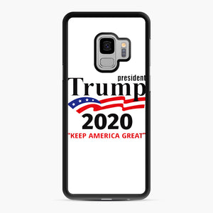 Trump Keep America Great 2020 Samsung Galaxy S9 Case, Black Rubber Case | Webluence.com