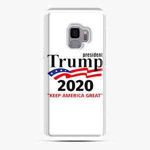 Trump Keep America Great 2020 Samsung Galaxy S9 Case, White Plastic Case | Webluence.com
