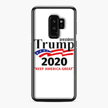 Load image into Gallery viewer, Trump Keep America Great 2020 Samsung Galaxy S9 Plus Case, Black Plastic Case | Webluence.com