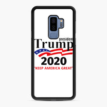 Load image into Gallery viewer, Trump Keep America Great 2020 Samsung Galaxy S9 Plus Case, Black Rubber Case | Webluence.com