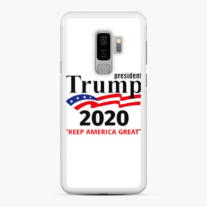 Trump Keep America Great 2020 Samsung Galaxy S9 Plus Case, White Rubber Case | Webluence.com