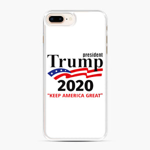 Trump Keep America Great 2020 iPhone 7,8 Plus Case, White Plastic Case | Webluence.com