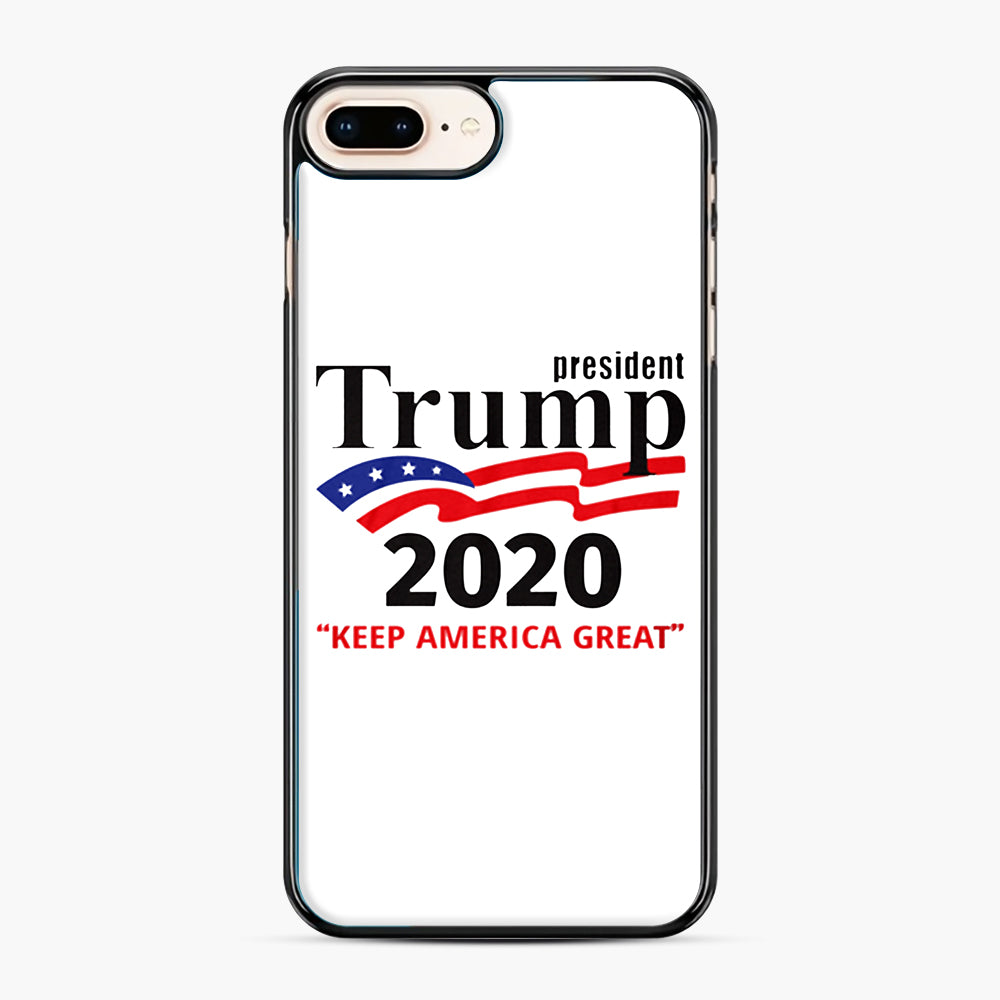 Trump Keep America Great 2020 iPhone 7,8 Plus Case, Black Plastic Case | Webluence.com