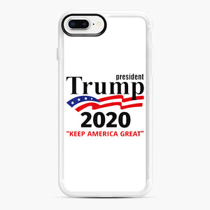 Trump Keep America Great 2020 iPhone 7,8 Plus Case, White Rubber Case | Webluence.com