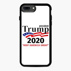 Trump Keep America Great 2020 iPhone 7,8 Plus Case, Black Rubber Case | Webluence.com