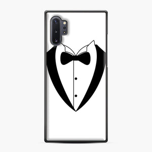 Tux Bow Samsung Galaxy Note 10 Plus Case, Black Plastic Case | Webluence.com