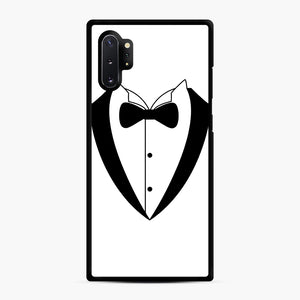 Tux Bow Samsung Galaxy Note 10 Plus Case, Black Rubber Case | Webluence.com