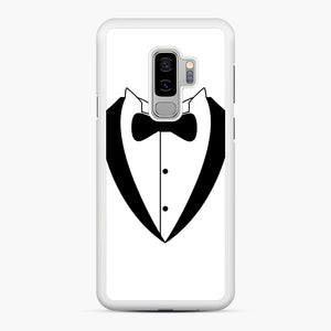 Tux Bow Samsung Galaxy S9 Plus Case, White Rubber Case | Webluence.com