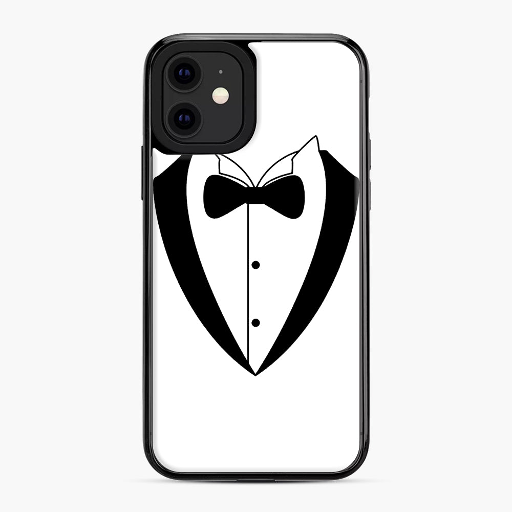 Tux Bow iPhone 11 Case, Black Plastic Case | Webluence.com