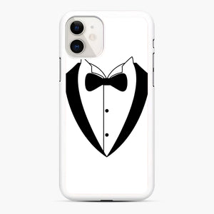 Tux Bow iPhone 11 Case, White Rubber Case | Webluence.com