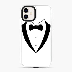 Tux Bow iPhone 11 Case, White Plastic Case | Webluence.com