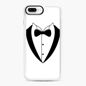 Tux Bow iPhone 7,8 Plus Case, White Rubber Case | Webluence.com