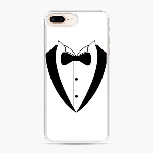 Tux Bow iPhone 7,8 Plus Case, White Plastic Case | Webluence.com