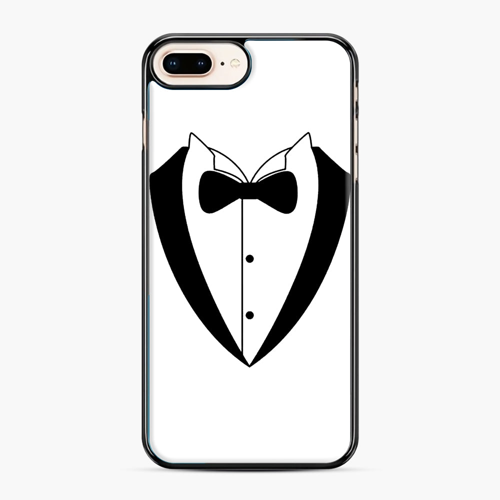 Tux Bow iPhone 7,8 Plus Case, Black Plastic Case | Webluence.com