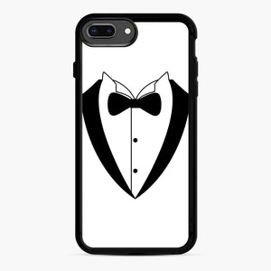 Tux Bow iPhone 7,8 Plus Case, Black Rubber Case | Webluence.com