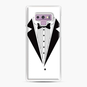 Tux Red Samsung Galaxy Note 9 Case, White Plastic Case | Webluence.com
