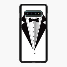 Load image into Gallery viewer, Tux Red Samsung Galaxy S10 Plus Case, Black Rubber Case | Webluence.com