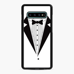 Tux Red Samsung Galaxy S10 Plus Case, Black Rubber Case | Webluence.com