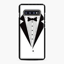 Load image into Gallery viewer, Tux Red Samsung Galaxy S10 Plus Case, Black Plastic Case | Webluence.com