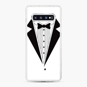 Tux Red Samsung Galaxy S10 Plus Case, White Plastic Case | Webluence.com