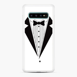 Tux Red Samsung Galaxy S10 Plus Case, White Rubber Case | Webluence.com