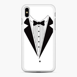 Tux Red iPhone XS Max Case, White Rubber Case | Webluence.com