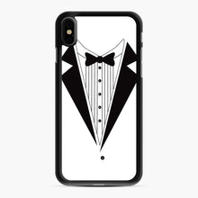 Load image into Gallery viewer, Tux Red iPhone XS Max Case, Black Rubber Case | Webluence.com