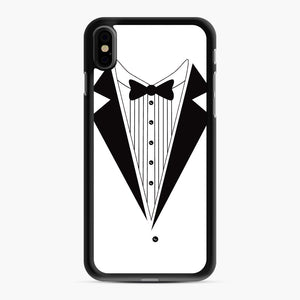 Tux Red iPhone XS Max Case, Black Rubber Case | Webluence.com