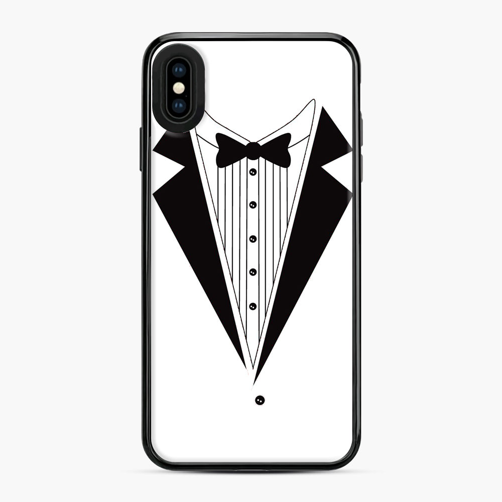 Tux Red iPhone XS Max Case, Black Plastic Case | Webluence.com