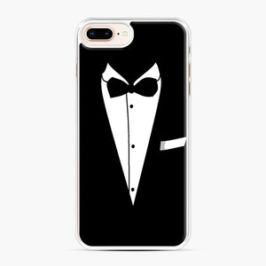 Tux Wedding iPhone 7,8 Plus Case, White Plastic Case | Webluence.com