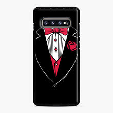 Load image into Gallery viewer, Tuxedo Anzug Samsung Galaxy S10 Plus Case, Black Plastic Case | Webluence.com