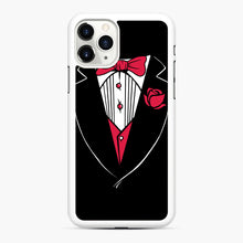 Load image into Gallery viewer, Tuxedo Anzug iPhone 11 Pro Case, White Rubber Case | Webluence.com