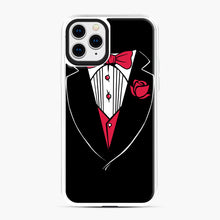 Load image into Gallery viewer, Tuxedo Anzug iPhone 11 Pro Case, White Plastic Case | Webluence.com