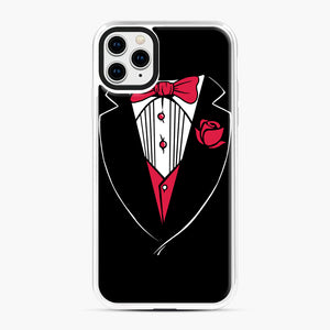 Tuxedo Anzug iPhone 11 Pro Max Case, White Plastic Case | Webluence.com