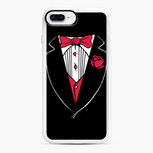 Tuxedo Anzug iPhone 7,8 Plus Case, White Rubber Case | Webluence.com