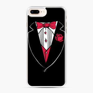 Tuxedo Anzug iPhone 7,8 Plus Case, White Plastic Case | Webluence.com