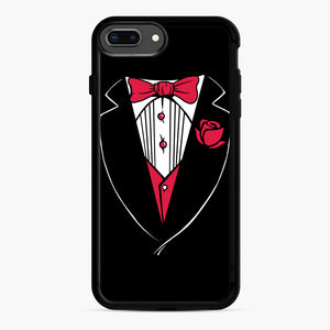 Tuxedo Anzug iPhone 7,8 Plus Case, Black Rubber Case | Webluence.com