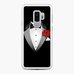 Tuxedo Fancy Dress Samsung Galaxy S9 Plus Case, White Rubber Case | Webluence.com