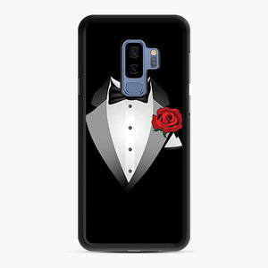 Tuxedo Fancy Dress Samsung Galaxy S9 Plus Case, Black Rubber Case | Webluence.com