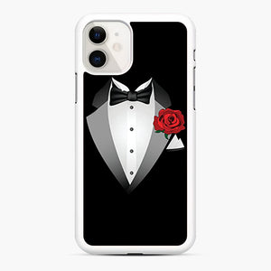 Tuxedo Fancy Dress iPhone 11 Case, White Rubber Case | Webluence.com