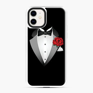 Tuxedo Fancy Dress iPhone 11 Case, White Plastic Case | Webluence.com