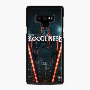 Vampire The Masquerade Bloodlines 2 1 Samsung Galaxy Note 9 Case, Black Rubber Case