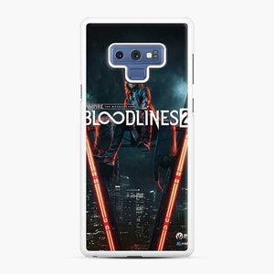 Vampire The Masquerade Bloodlines 2 1 Samsung Galaxy Note 9 Case, White Rubber Case