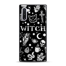 Load image into Gallery viewer, WITCH PATTERN Samsung Galaxy Note 10 Case, Black Plastic Case | Webluence.com