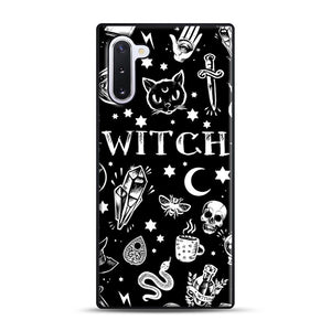 WITCH PATTERN Samsung Galaxy Note 10 Case, Black Rubber Case | Webluence.com