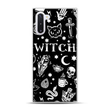 Load image into Gallery viewer, WITCH PATTERN Samsung Galaxy Note 10 Case, White Plastic Case | Webluence.com