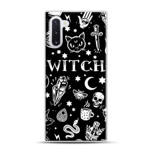 WITCH PATTERN Samsung Galaxy Note 10 Case, White Rubber Case | Webluence.com
