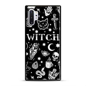 WITCH PATTERN Samsung Galaxy Note 10 Plus Case, Black Rubber Case | Webluence.com