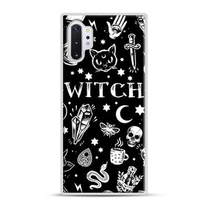 WITCH PATTERN Samsung Galaxy Note 10 Plus Case, White Plastic Case | Webluence.com